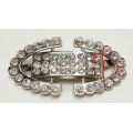 Zin Alloy Shoe Buckle Rhinestone