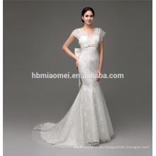 Vestido de novia apliques de flores vestido de novia en línea tienda