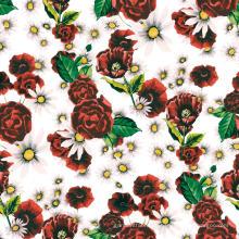 Digital-Blumen-Druckgewebe-Polyester-Kleidergewebe