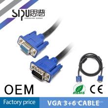 SIPU 1,8 m 6ft vga de 15 pinos cabo de vga com dois núcleos