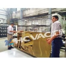 Equipo de revestimiento de nitruro de titanio de hoja de acero inoxidable / Máquina de recubrimiento de PVD de hoja dorada