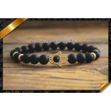 Золотые браслеты руки Hamsa, браслеты способа для сбываний (CB054)