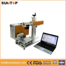 Machine de marquage au laser à fibre pour tube à rouleaux / marqueur laser de petite taille