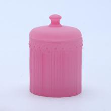 Tarro de cristal púrpura de lujo para hacer velas