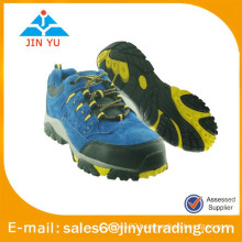 Hiking Fashion Blue Leather Shoes Men