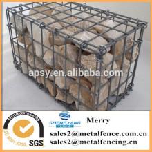 1000mmLX1000mmWX1000mmH galvanisé boîte de pierre de gabion soudé