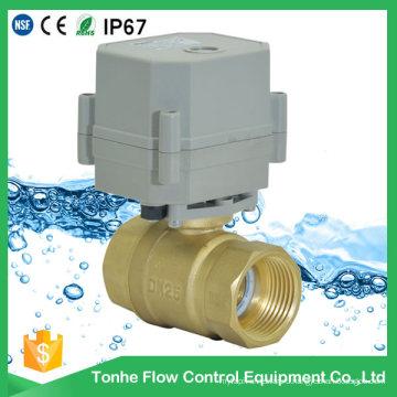 """1 """"Дюймовая латунь DC12V 24V Моторизованный электрический шаровой клапан с водой обычно закрыт"""