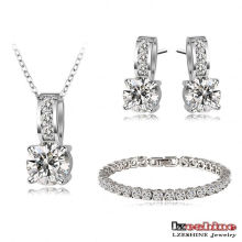 Brincos de noiva nova colar brincos conjuntos de moda (cst0025-b)