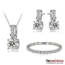 Новые свадебные браслеты ожерелье серьги наборы моды (CST0025-B)