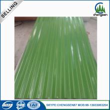 Green Galvanized Steel Roofing Sheet