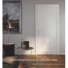 Interior mdf craftsman puerta de dos paneles con cerradura especial
