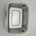 caixa hermética da vasilha de prata quadrada de aço inoxidável por atacado com tampa