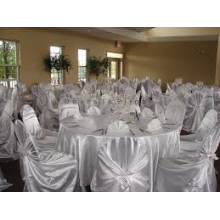 self-tied satin chair cover/ self wraped chair cover for wedding banquet hotel
