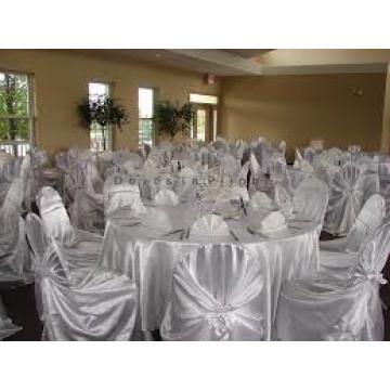 attaché des couverture de chaise satin / auto wraped chaise housse pour hôtel de banquet de mariage