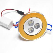 100-240v luces empotradas de hormigón 3w downlights