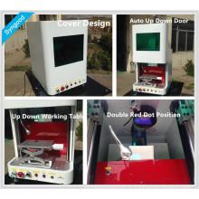 Syngood pet id tag tag máquina de marcação a laser 100x100mm com design de capa portátil