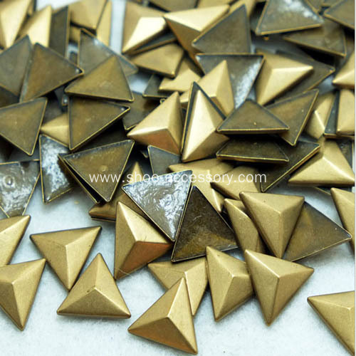Antique Brass Triangle Nailheads HotFix Embellishments