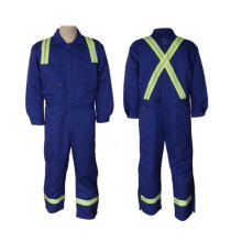 Flame Resistant Coverall Made of 100%Polyester (DFW1007)