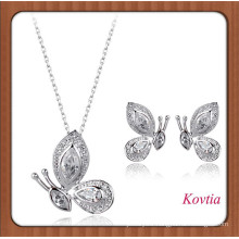 new products 2016 crystal butterfly 18k white gold bridal jewelry set best wholesale websites