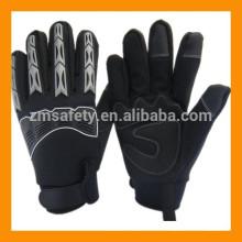 Guante mecánico forrado térmicamente con protección para los nudillos y los dedos