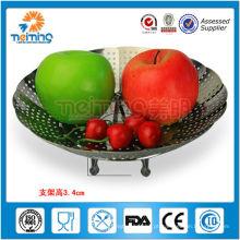 venda quente novetly aço inoxidável tigela de frutas atacado