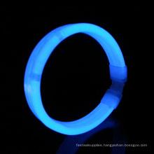 blue wide glow wristband