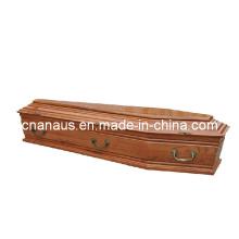 Euro estilo madera ataúd