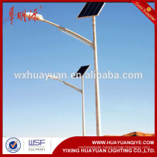 solar LED street light lamp pole