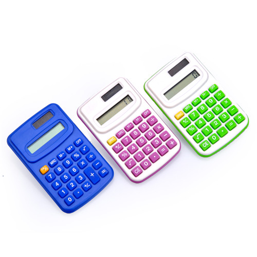 Colorful Dual Power Pocket Calculator