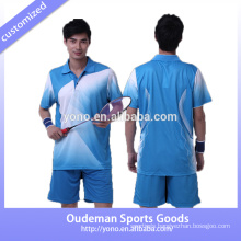 Dry fit and top quality fashion custom badminton jersey designs badminton for couples and with low price badminton