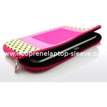 Cute Neoprene iPad Tablet Case With Zipper Dot Print , Colo