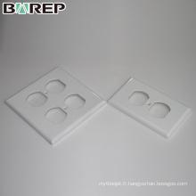 YGC-010 Nouvelle plaque frontale USA 125V 15A gfci plaques de commutation en plastique durables