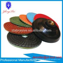 Le dessus de comptoir de qualité de 4 pouces a employé le tampon de polissage de pierre de granit humide / sec