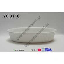 Stoneware White Casserole on Promotion- Oven Safe