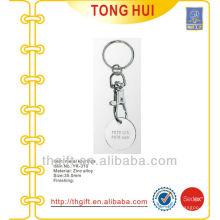 Custom engraved website token coin keychain/keyrings metal