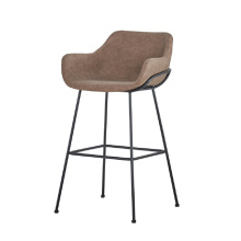 Hot sale modern furniture leather barstool with metal frame club bar stool chair