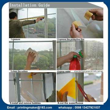 Self Adhesive Colorful Window Window Hiasan