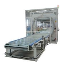 Máquina para envolver paquetes de tubos horizontales