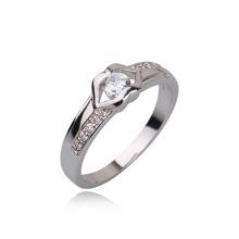 Новый Белый CZ камень Свадебные родий Цвет бриллиантовое обручальное кольцо ювелирных изделий -10590