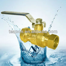 lead free brass ball valves with compression ends with drain