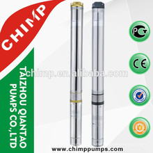 100QJD808-1.1 irrigation single Phase High performance brass/iron outlet deep well electric submersible pump