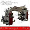 Machines d'impression typographique flexographique de film de LDPE de 4 couleurs