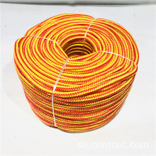 Multi-Purpose Orange Yellow PP Multifilament Flätad Rope