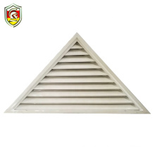 Modern residential exterior front house aluminium profile louver triangle window