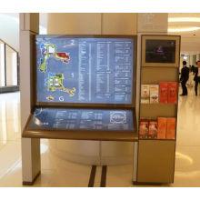 La signalisation debout de poteau de répertoire d'acier inoxydable de LED de centre commercial