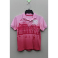 BOY'S 100% COTTON KNITTED HANG DYED POLO WITH PRINT & EMBROIDERY