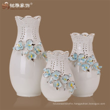 2016 new style wholesale Christmas decorations Creamic orchid flower vase