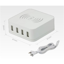 Caricabatterie wireless 2 IN 1 con 4 porte USB Caricabatterie 5V 7.8A 39W 4-USB Charging Station