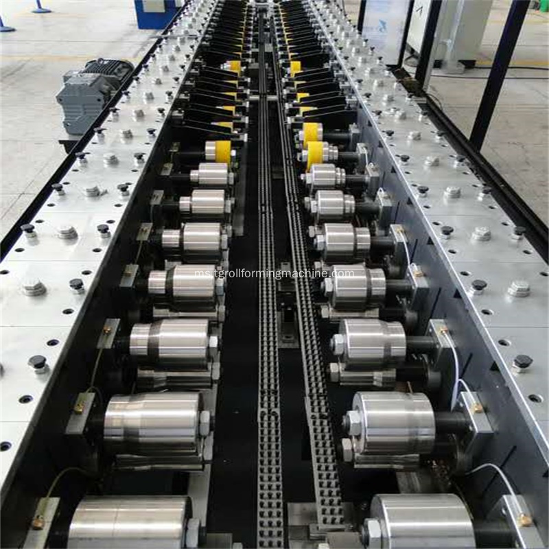 Peti sejuk U Profile Sidewall Roll Forming Machine