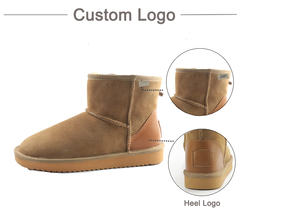 Customized Leather Snow Boots
